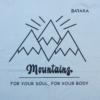 Kép 2/5 - Mountains – férfi póló, jégkék