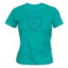 Kép 1/5 - Bike lover – női póló, karibi-kék