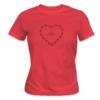 Kép 1/6 - Bike lover – női póló, piros
