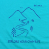 Kép 2/5 - Explore your own life – női póló, karibi-kék