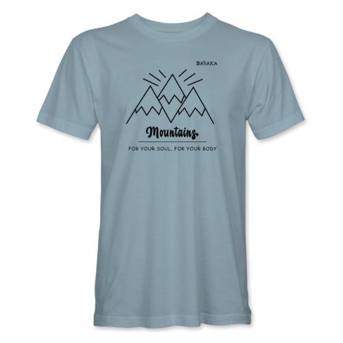 Mountains – férfi póló, jégkék