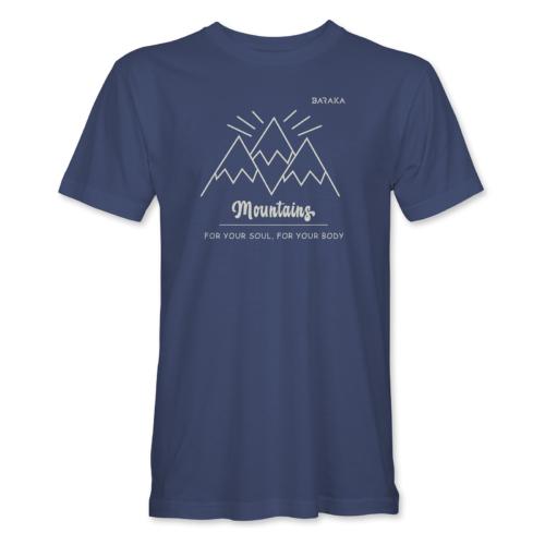 Mountains – férfi póló, farmerkék