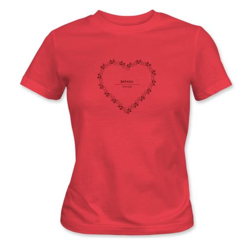 Bike lover – női póló, piros